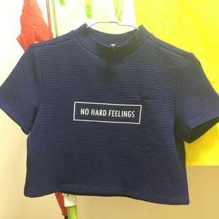 日本H&M購入 紫藍色短版上衣XS 僅試穿