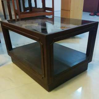 Glass-topped Side Table