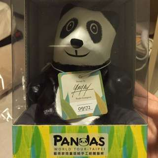 藝術家限量版手工紙雕貓熊
