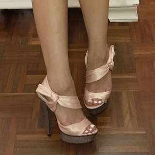 Peach Satin Marco Gianni High heels size 5