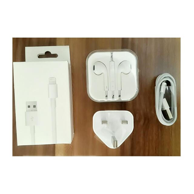 1Set Charger & Earpod ORIGINAL 99%