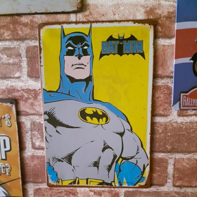 復古鐵牌[蝙蝠俠][20×30cm]