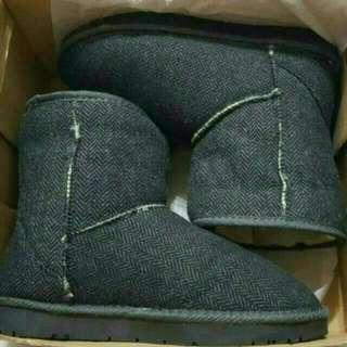 二手  690->450 SPAO 灰色毛呢喃雪靴
