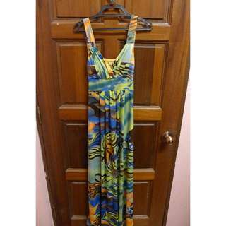 Abstract Maxi Dress (FREE POSTAGE)