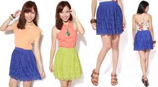 Love Bonito Shelburne Skirt in Lime