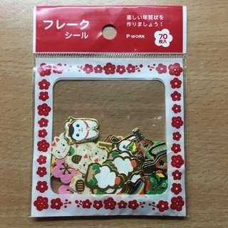日本帶回 日本風味貼紙 70枚 招財貓款 包郵💖