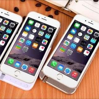 蘋果蘋果iPhone6/ 6s/ 6plus 夾背式 攜帶式 行動電源10000毫安手機充電殼