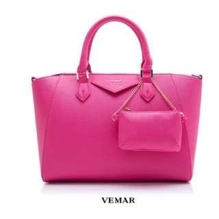 VEMAR 都會俐落兩用通勤包(甜蜜桃)