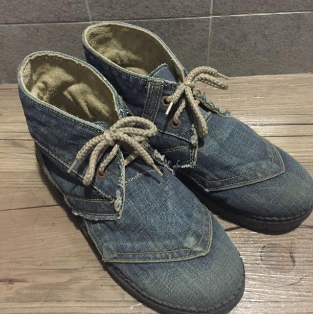獨一無二~復古牛仔鞋