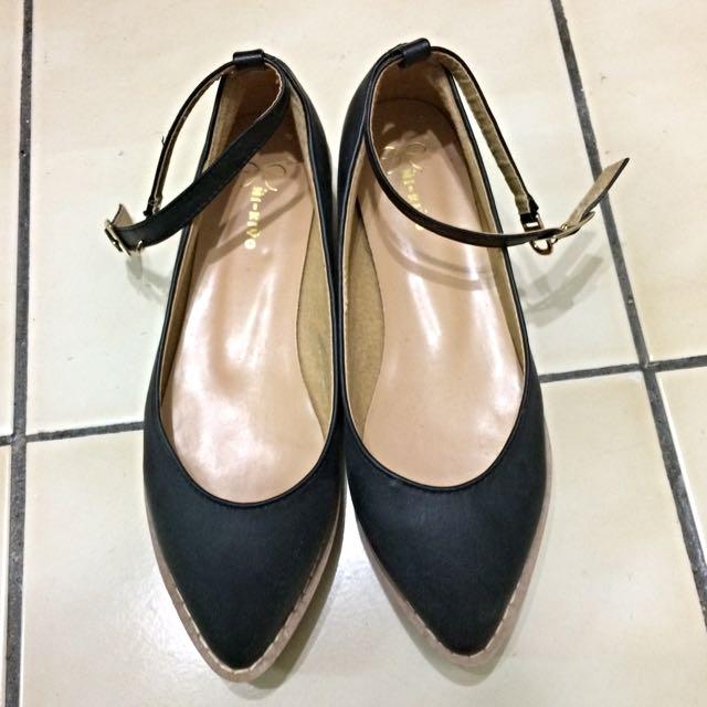 ( 降價)尖頭復古瑪莉珍鞋