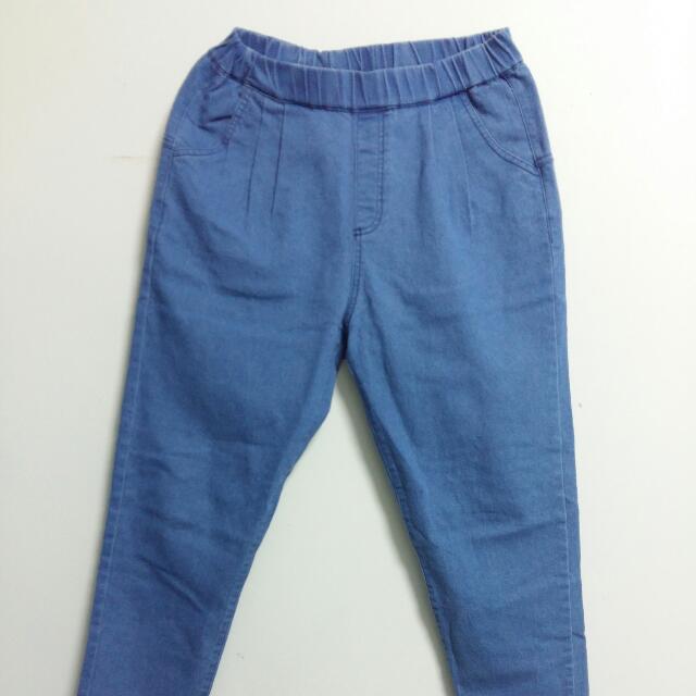 男友牛仔褲  深天空藍