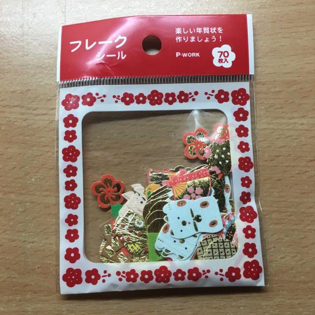日本帶回 日本風味貼紙 70枚 白貓款 包郵💖