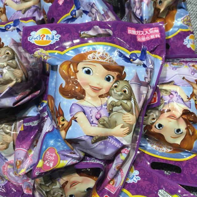 阿卡將購回 迪士尼 蘇菲亞小公主 泡澡球 洗澡玩具