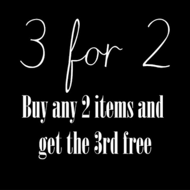 Buy 2 Items And Receive The 3rd Free!!