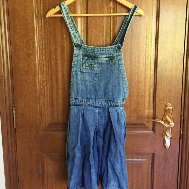 Denim Overall Dress Size 8-10
