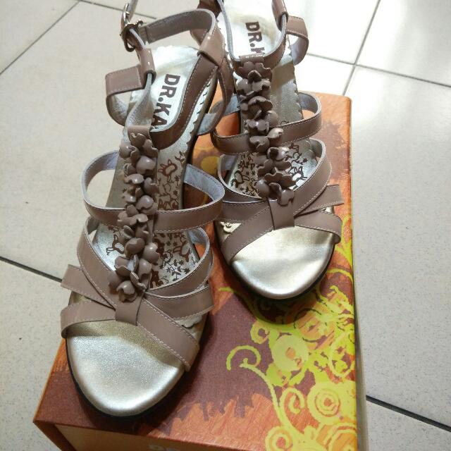 DK 氣墊涼鞋 藕色涼鞋