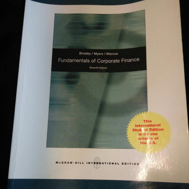 Fundamentals Of Corporate Finance 財務經濟學