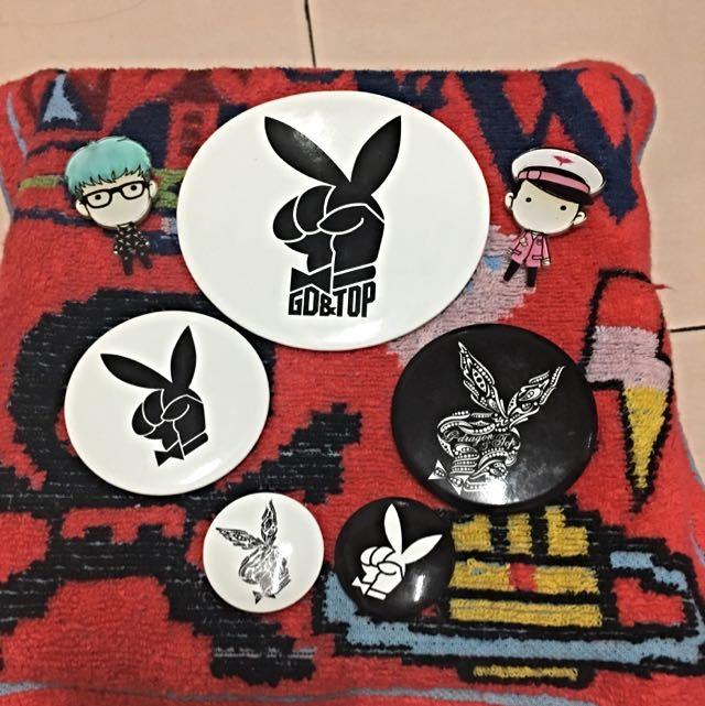 GD&TOP 兔圖案官方胸章