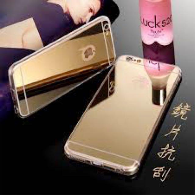 iPhone 5/5s 鏡面電鍍手機殼 金色 土豪金