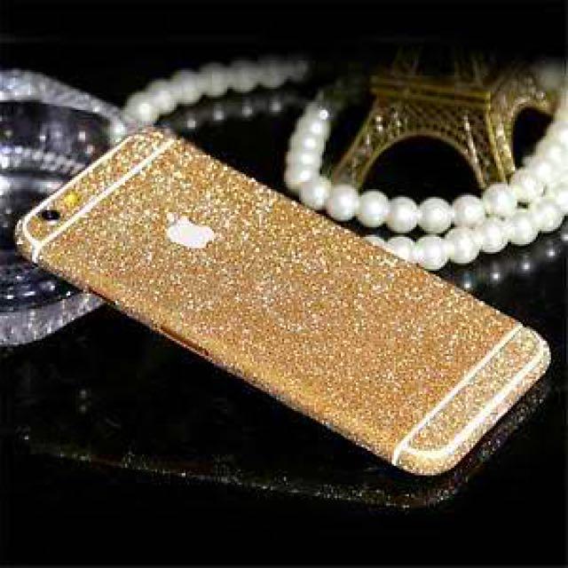 Iphone 6/6s glitter sticker cover