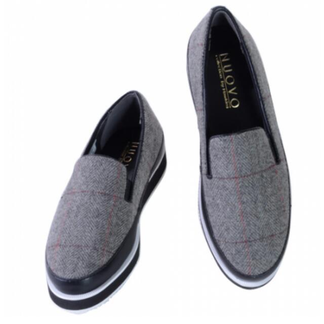NUOVO格紋休閒鞋