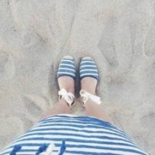 Soludos 美國藍白繞繩涼鞋