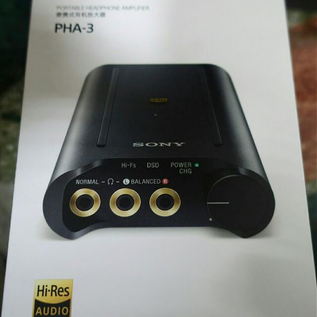 (二手)SONY PHA-3頂級隨身 DAC 耳擴 平衡 DSD