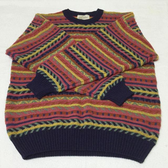 清倉價➰UNICORN COUNTRY 古著懷舊復古毛衣 二手vintage