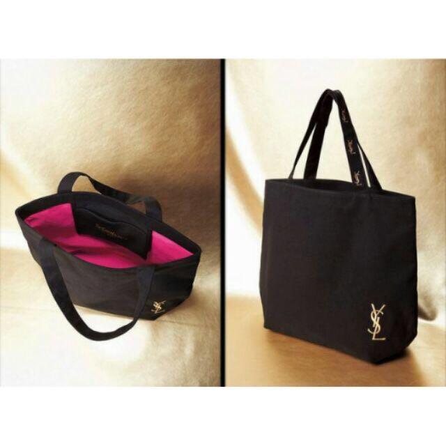 YSL 購物袋 帆布包 黑