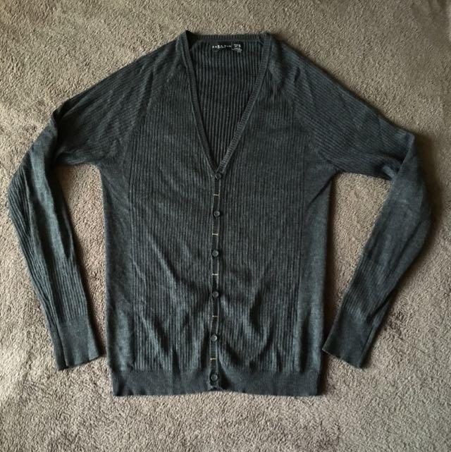 [免運]Zara 鐵灰色罩衫