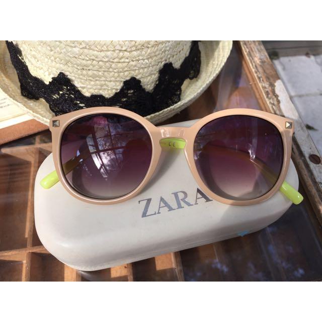 (含運)Zara 雙色矛釘造型 墨鏡/太陽眼鏡