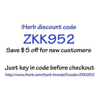 Save $5 off iHerb! (Discount code for new customers) - free