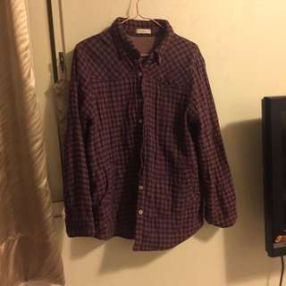 紫色質感棉襖 大衣/外套