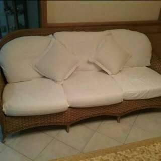 Quick Sale: Rattan 3 Seater + 2 Armchairs