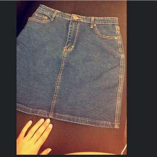 High Waisted Denim Skirt - Great Condition