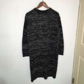 F21黑灰混紡針織洋裝(含運)