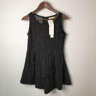 日本購入黑白直條紋洋裝