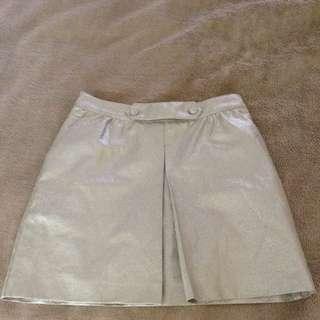 Silver Disco Skirt Rrp$157