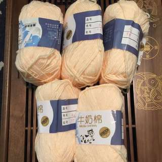 Milk Cotton Yarns For Crochets & Knitting Lovers!