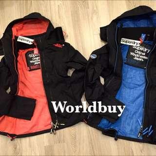 Superdry三層拉鍊網格風衣外套