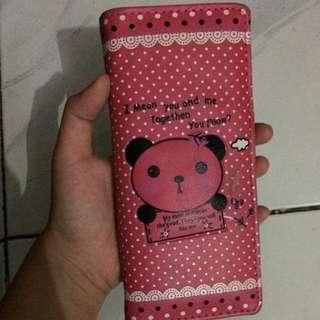 Dompet Panda Pink