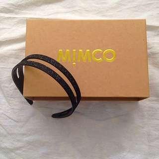 MIMCO black glitter headband