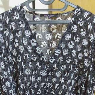 Black White Flower Import #preloved