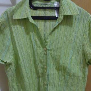 Lime Green Short Sleeve #preloved