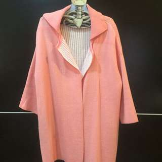 韓製粉橘外套