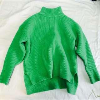 草綠色高領毛衣🍀