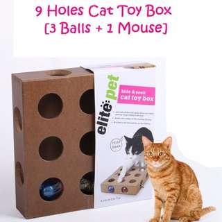 9 Holes Cat Toy Box