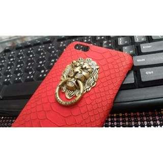 蘋果iphone6 plus 獅子手機殼 保護殼 硬殼 質感頂級 紅色現貨