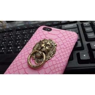 蘋果iphone6 plus 獅子手機殼 保護殼 硬殼 質感頂級 粉紅色