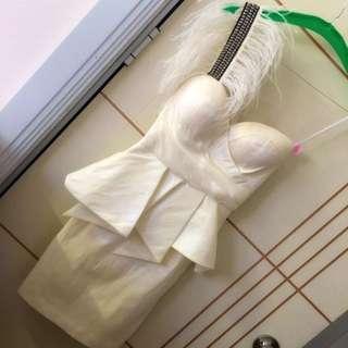 Abyss White XS Dress